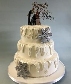 Winter wedding cake,2