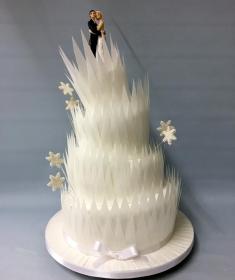 Winter wedding cake,3